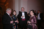 Mr. and Mrs. stanley Johnson and Frances and Charles Jackson. National Portrait Gallery  150th Anniversary Fundraising Gala. National Portrait Gallery. London. 28 February 2006. ONE TIME USE ONLY - DO NOT ARCHIVE  © Copyright Photograph by Dafydd Jones 66 Stockwell Park Rd. London SW9 0DA Tel 020 7733 0108 www.dafjones.com
