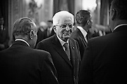 Rome dec 21th 2015, swearing-in ceremony of  new Constitutional Court members. In the picture Sergio Mattarella