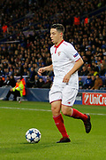 Sevilla midfielder Samir Nasri (10) during the Champions League round of 16, game 2 match between Leicester City and Sevilla at the King Power Stadium, Leicester, England on 14 March 2017. Photo by Richard Holmes.