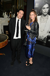 ADAM WEYMOUTH and CLEMMIE KING at an evenig of Jewellery & Photography to launch the Buccellati 'Opera Collection' held at Spencer House, London on 21st October 2015.