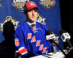 Gabriel Fontain of the Rouyn-Noranda Huskies was selected by the New York Rangers at the 2016 NHL Draft in Buffalo, NY on Saturday June 25, 2016. Photo by Aaron Bell/CHL Images