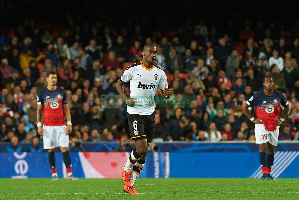 November 5, 2019, Valencia, Valencia, Spain: Geoffrey Kondogbia of Valencia celebrates a goal during the during the UEFA Champions League group H match between Valencia CF and Losc Lille at Estadio de Mestalla on November 5, 2019 in Valencia, Spain (Credit Image: © AFP7 via ZUMA Wire)