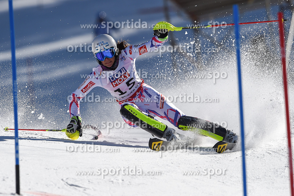 14.02.2015, Birds of Prey, Beaver Creek, USA, FIS Weltmeisterschaften Ski Alpin, Vail Beaver Creek 2015, Damen, Slalom, 2. Durchgang, im Bild Nastasia Noens (FRA) // Nastasia Noens of France in action during 2nd run of the ladie's Slalom of FIS Ski World Championships 2015 at the Birds of Prey in Beaver Creek, United States on 2015/02/14. EXPA Pictures © 2015, PhotoCredit: EXPA/ Jonas Ericson