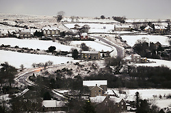 © Licensed to London News Pictures. <br /> 29/01/2015. <br /> <br /> Danby, United Kingdom<br /> <br /> Houses and fields in Danby in North Yorkshire are covered in snow. A wintery blast causing extremely cold weather is expected to cause some disruption over the next few days.<br /> <br /> Photo credit : Ian Forsyth/LNP