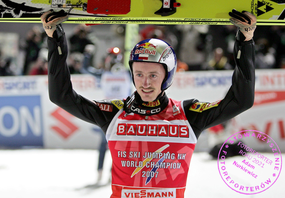 GEPA-0303074145 - SAPPORO,JAPAN,03.MAR.07 - SKI NORDISCH, SKISPRINGEN - FIS Nordische Ski Weltmeisterschaft 2007 in Sapporo, Einzelspringen Kleinschanze. Bild zeigt Adam Malysz (POL). Foto: GEPA pictures/ Wolfgang Grebien.FOT. GEPA / WROFOTO.*** POLAND ONLY !!! ***.*** NO INTERNET/ MOBILE USAGE !!! ***