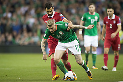 September 5, 2017 - Dublin, Ireland - James McClean of Ireland fights for the ball during the FIFA World Cup 2018 Qualifying Round match between Republic of Ireland and Serbia at Aviva Stadium in Dublin, Ireland on September 5, 2017  (Credit Image: © Andrew Surma/NurPhoto via ZUMA Press)