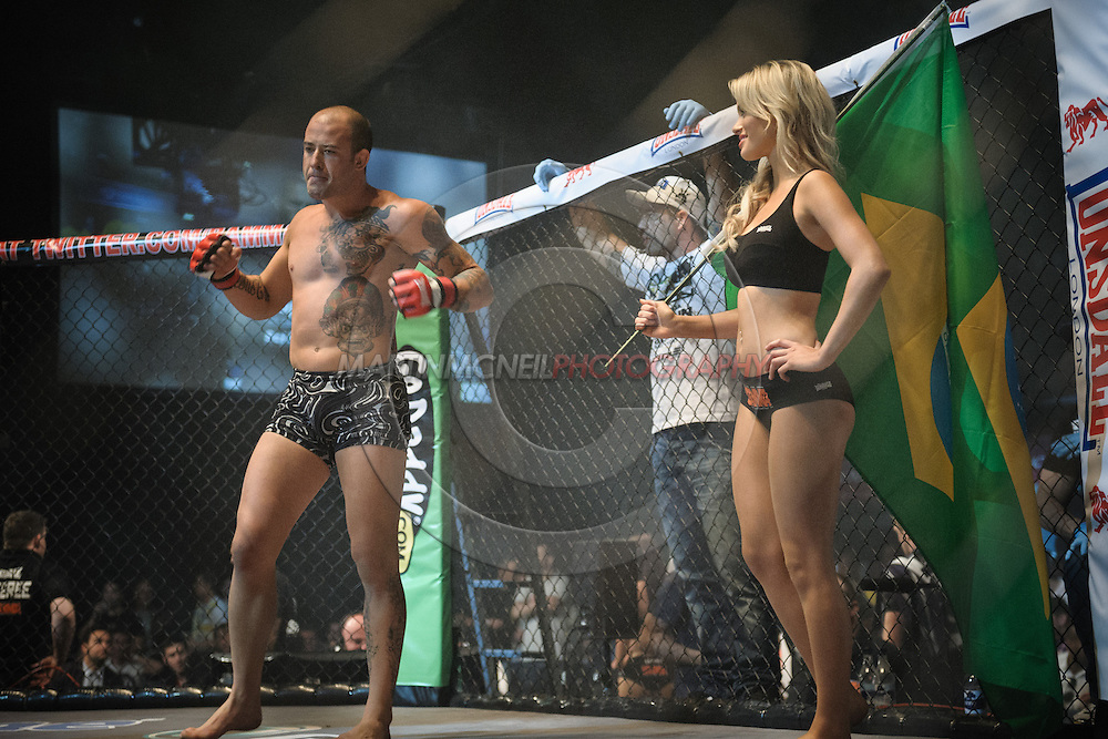 "LONDON, ENGLAND, MAY 21, 2011: Mixed martial arts action during ""BAMMA 6: Watson vs. Rua"" inside Wembley Arena in London, England on May 21, 2011."