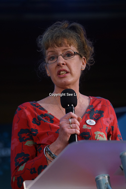 London, UK, 24th October 2017. Speaker Helen Jackman is a mum of three demand more funding for education for the children at the Rally Against School Cuts with over 1,000 parents and school staff lobbying more than two-thirds of the MPs in England and Wales at Emmanuel Centre.