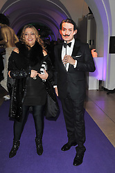 ZAHA HADID and DAVID GILL at The Surrealist Ball in aid of the NSPCC in association with Harpers Bazaar magazine held at the Banqueting House, Whitehall, London on 17th March 2011.