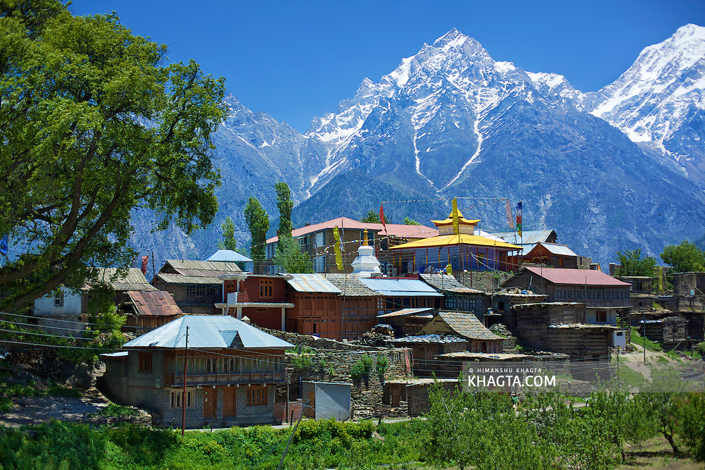 Kalpa is a small town located in the Sutlej River Valley, above Recong Peo, in the lap of himalayas (Kinnar Kailash Ranges