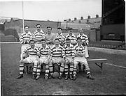09/05/1954/<br /> 05/09/1954<br /> 09 March 1954<br /> soccer: FAI Junior Cup Final, Glasheen v Homefarm at Dalymount Park, Dublin. The Homefarm Team.