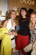 Zahar Hashemi and Lisa B. Lalique Twenties launch, New Bond St. 4 June 2003. © Copyright Photograph by Dafydd Jones 66 Stockwell Park Rd. London SW9 0DA Tel 020 7733 0108 www.dafjones.com