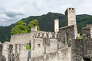 Castelgrande, UNESCO Welterbestätte Drei Burgen sowie Festungs- und Stadtmauern von Bellinzona, Tessin, Schweiz | Castelgrande, UNESCO Welterbestätte Drei Burgen sowie Festungs- und Stadtmauern von Bellinzona, Tessin, Schweiz