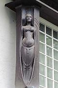 Künstlerkolonie, Detail eines Künstlerhauses, Jugendstil, Darmstadt, Hessen, Deutschland | Centre of Art Noveau on Mathildenhoehe, Darmstadt, Germany