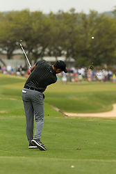 March 23, 2018 - Austin, TX, U.S. - AUSTIN, TX - MARCH 23:  Julian Suri hits his tee shot on the par three seventh hole during the WGC-Dell Technologies Match Play Tournament on March 22, 2018, at the Austin Country Club in Austin, TX.  (Photo by David Buono/Icon Sportswire) (Credit Image: © David Buono/Icon SMI via ZUMA Press)