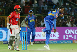 May 8, 2018 - Jaipur, Rajasthan, India - Rajasthan Royals bowler Jofra Archer bowls during the IPL T20 match against Kings XI Punjab at Sawai Mansingh Stadium in Jaipur,Rajasthan,India on 8th May,2018.(Photo By Vishal Bhatnagar/NurPhoto) (Credit Image: © Vishal Bhatnagar/NurPhoto via ZUMA Press)
