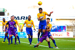 Malvind Benning of Mansfield Town heads the ball clear - Mandatory by-line: Ryan Crockett/JMP - 17/11/2018 - FOOTBALL - One Call Stadium - Mansfield, England - Mansfield Town v Port Vale - Sky Bet League Two