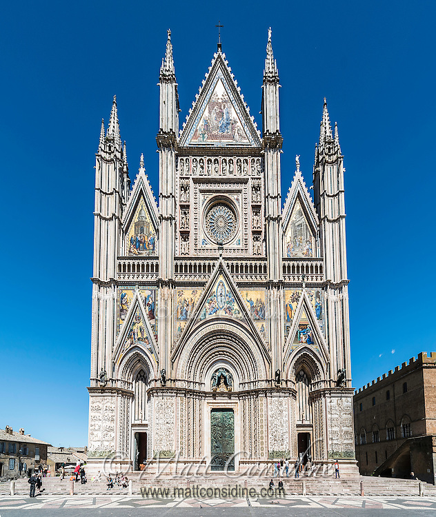The amazingly detailed facade on the cathedral, including mosaics and intricate sculptures. (Photo by Travel Photographer Matt Considine)