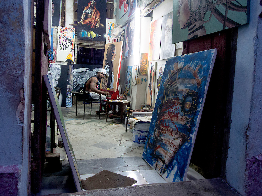 One of the many artists studios in Old Havana.