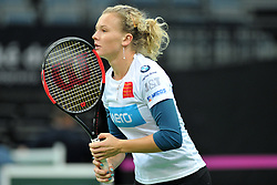 November 8, 2018 - Prague, Czech Republic - Katerina Siniakova of the Czech Republic during practice ahead of the 2018 Fed Cup Final between the Czech Republic and the United States of America in Prague in the Czech Republic. The Czech Republic will face United States in the Tennis Fed Cup World Group on 10 and 11 November 2018. (Credit Image: © Slavek Ruta/ZUMA Wire)