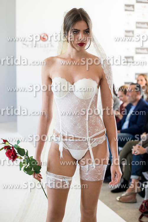 15.10.2015, Circulo de Bellas Artes, Madrid, ESP, Senmark Jubil&auml;ums Fashion Show, im Bild ein Model // during the Senmark 40th. Aniversary Fashion Show at the Circulo de Bellas Artes in Madrid, Spain on 2015/10/15. EXPA Pictures &copy; 2015, PhotoCredit: EXPA/ Alterphotos/ BorjaB.hojas<br /> <br /> *****ATTENTION - OUT of ESP, SUI*****