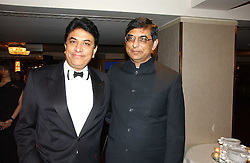 Left to right, VIJAY PATEL and BHIKHU PATEL the pharmaceutical millionaire brothers at the 10th Anniversary Asian Business Awards 2006 at the London Grosvenor Hotel Park Lane, London on 19th April 2006.<br />