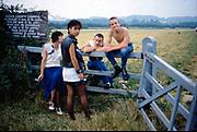 Joey, Kelly, Gavin and Neville at Spade Oak, Buckinghamshire, UK, 1983.