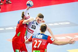 Nikola Bilyk of Austria during handball match between National teams of Austria vs Norway on Day 4 in Preliminary Round of Men's EHF EURO 2018, on January 16, 2018 in Arena Zatika, Porec, Croatia. Photo by Ziga Zupan / Sportida