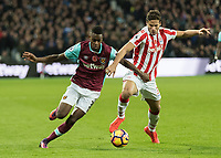 Football - 2016 / 2017 Premier League - West Ham United vs. Stoke City<br /> <br /> <br /> at The London Stadium.<br /> <br /> COLORSPORT/DANIEL BEARHAM
