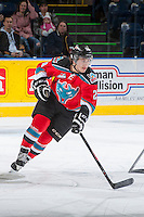 KELOWNA, CANADA - DECEMBER 6:  Tyson Baillie #24 of the Kelowna Rockets skates against the Everett Silvertips on December 6, 2013 at Prospera Place in Kelowna, British Columbia, Canada.   (Photo by Marissa Baecker/Shoot the Breeze)  ***  Local Caption  ***