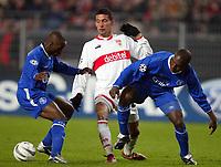 v.l. Claude MAKELELE, Kevin KUIRANYI Stuttgart, GEREMI<br /> Fu§ball Champions League VfB Stuttgart - FC Chelsea