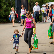 August 21, 2016, New Haven, Connecticut: <br /> Fans walk toward the stadium during Day 3 of the 2016 Connecticut Open at the Yale University Tennis Center on Sunday, August  21, 2016 in New Haven, Connecticut. <br /> (Photo by Billie Weiss/Connecticut Open)