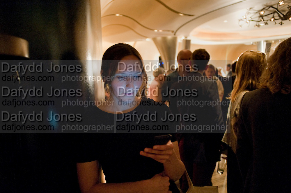 CLAIRE FOX, Launch of PRPS new luxury denim line called NOIR whilst raising money for Unicef Japan. Nobu. Berkeley St. London. 5 September 2011. <br /> <br />  , -DO NOT ARCHIVE-© Copyright Photograph by Dafydd Jones. 248 Clapham Rd. London SW9 0PZ. Tel 0207 820 0771. www.dafjones.com.