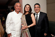 NOBU MATSUHISA;; KARAN G.ISRANI; , The Tomodachi ( Friends) Charity Dinner hosted by Chef Nobu Matsuhisa in aid of the Japanese Tsunami Appeal. Nobu Park Lane. London. 4 May 2011. <br /> <br />  , -DO NOT ARCHIVE-© Copyright Photograph by Dafydd Jones. 248 Clapham Rd. London SW9 0PZ. Tel 0207 820 0771. www.dafjones.com.