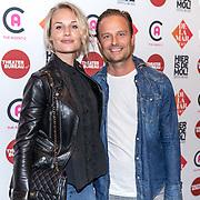 NLD/Amsterdam/20190919 - Premiere Show Johnny de Mol, Kimberley Klaver en partner Michel van den Bergh