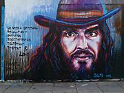 Street art Russell Brand, London E2