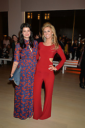 Left to right, PIXIE GELDOF and STEPHANIE BILET at Fashions for The Future presented by Oceana's Junior Council held at Phillips Auction House, 30 Berkeley Square, London on 19th March 2015.