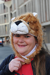 28-07-18 Emirates Airline Park, Johannesburg. Super Rugby semi-final Emirates Lions vs NSW Waratahs. Lions fan Pearl O'Mahony from Strubensvalley<br /> Picture: Karen Sandison/African News Agency (ANA)