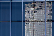 A reflection of the North Tower of the Gran Tokyo Hotel in Marunouchi, Tokyo, Japan. Friday, January 10th 2014