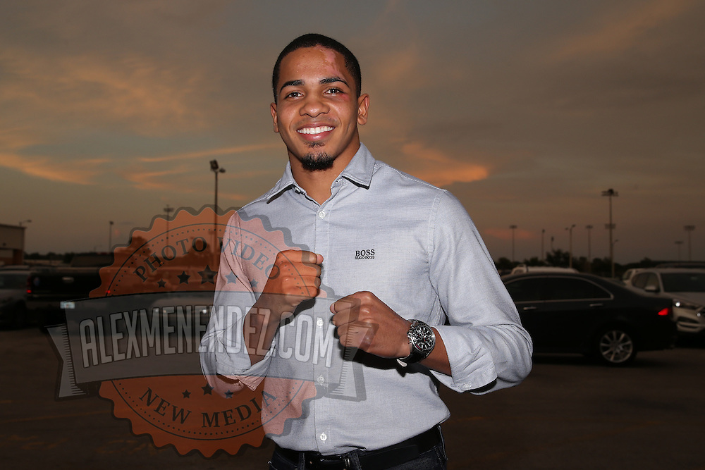 Felix Verdefo arrives during theTop Rank boxing event at Osceola Heritage Park in Kissimmee, Florida on September 22, 2016.