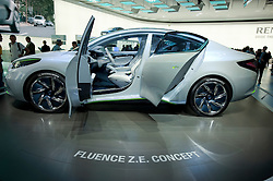 New Renault Fluence ZE concept for electric vehicle at Frankfurt Motor Show 2009