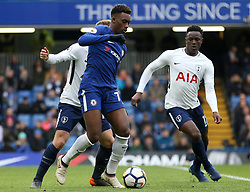 Chelsea's Callum Hudson-Odoi in action during the Premier League match at Stamford Bridge, London