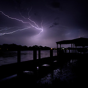 Lightning from the backyard in Maitland, Fla.  Photos by Willie J. Allen, Jr.