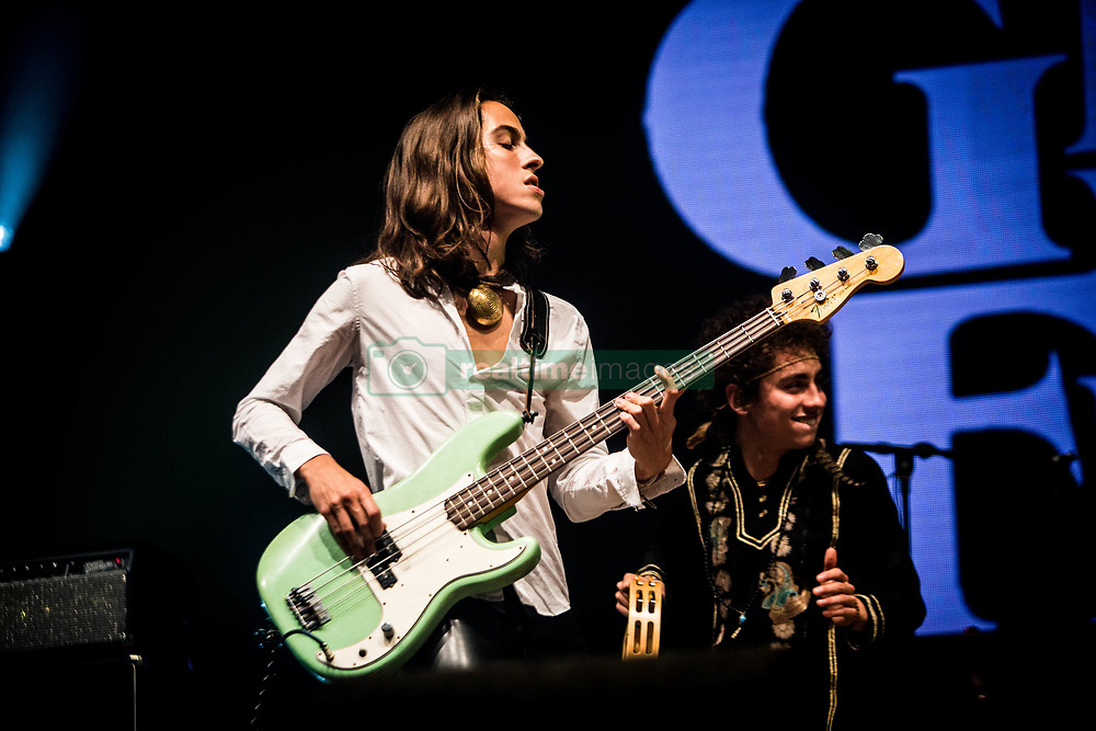 June 17, 2018 - Landgraaf, Limburg, Netherlands - Sam Kiszka of Greta Van Fleet performing live at Pinkpop Festival 2018 in Landgraaf, Netherlands,on 17 June 2018. (Credit Image: © Roberto Finizio/NurPhoto via ZUMA Press)