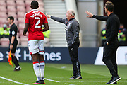 Middlesbrough assistant manager Kevin Blackwell gestures  during the EFL Sky Bet Championship match between Middlesbrough and Bournemouth at the Riverside Stadium, Middlesbrough, England on 19 September 2020.