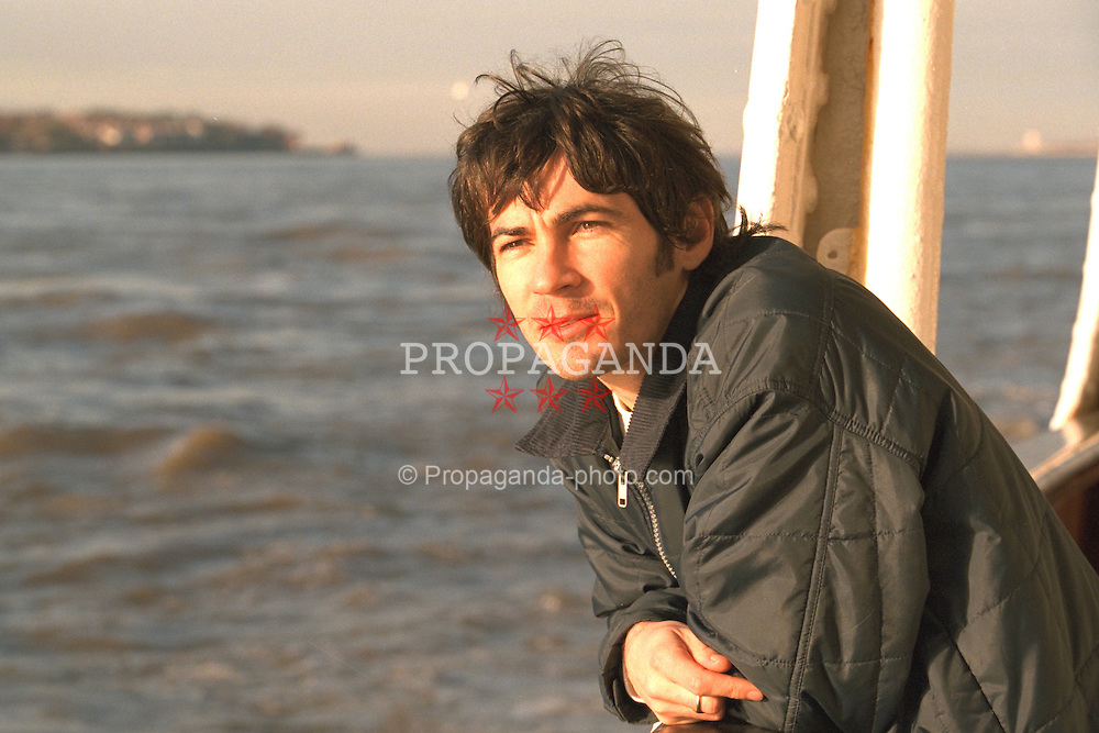 LIVERPOOL, ENGLAND - Liverpool band Space photographed on a Mersey Ferry in Liverpool. Tommy Scott. (Pic by David Rawcliffe/Propaganda)