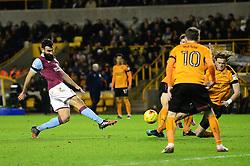 Mile Jedinak of Aston Villa takes a shot at goal - Mandatory by-line: Dougie Allward/JMP - 14/01/2017 - FOOTBALL - Molineux - Wolverhampton, England - Wolverhampton Wanderers v Aston Villa - Sky Bet Championship