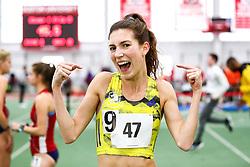womens One Mile, BAA, adidas, Dana Giordano, <br /> Boston University Scarlet and White<br /> Indoor Track & Field, Bruce LeHane , adidas, BAA,
