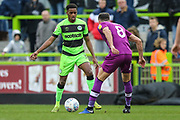 Forest Green Rovers Reece Brown(10) takes on Carlisle United's Mike Jones(8) during the EFL Sky Bet League 2 match between Forest Green Rovers and Carlisle United at the New Lawn, Forest Green, United Kingdom on 16 March 2019.