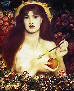 Dante Gabriel Rossetti (1828 – 1882) English poet and artist. He was a founder of the Pre-Raphaelite Brotherhood. Venus Verticordia 1864-66. Venus Verticordia (Venus the Changer of Hearts), the protector against vice